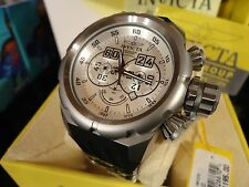 Invicta 21680 52mm Russian Diver Chrono Silver Titanium Silicone Strap Watch NEW