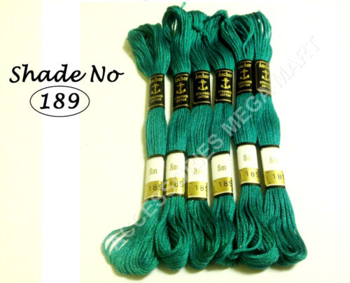 6 Anchor stranded Cotton embroidery thread skeins All purpose assorted colors