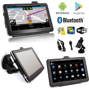 7-Zoll-Android-PKW-LKW-Navigationsgeraet-Navigation-Europa-Karten-Bluetooth-Wifi