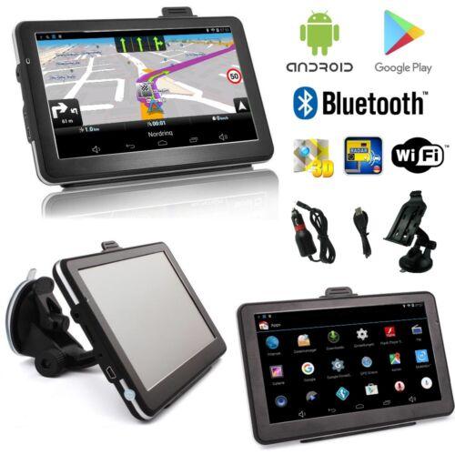 7 PULGADAS androide turismos camiones navegador navegación Europa tarjetas wifi Bluetooth