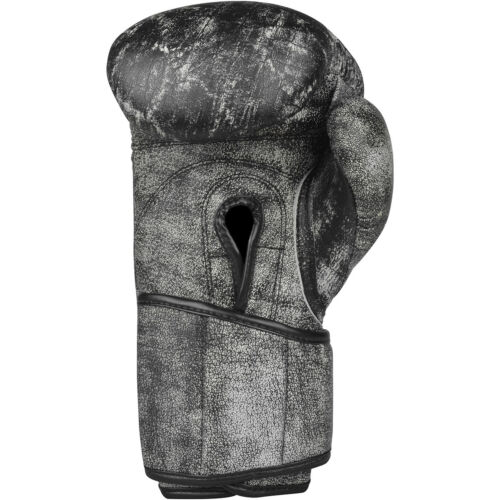 Title Boxing Distressed Glory Leather Hook and Loop Training Gloves Black