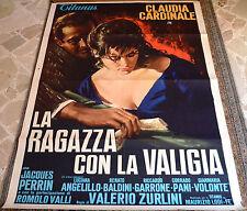 MANIFESTO ORIGINALE LA RAGAZZA CON LA VALIGIA 61 CLAUDIA CARDINALE ZURLINI