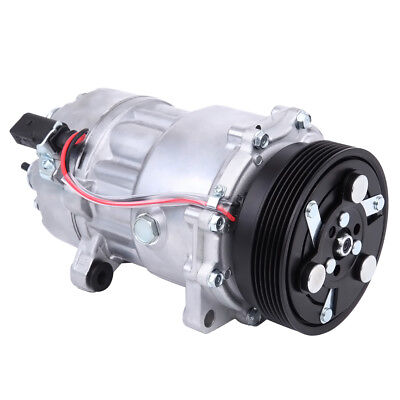 A//C Compressor Fits Audi Volkswagen Models OEM SD7V16 1 Year Warranty 77554
