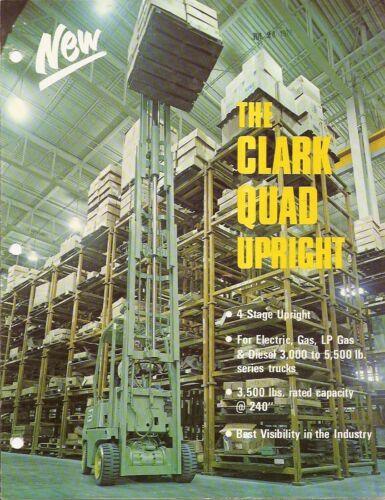 Fork Lift Truck Brochure - Clark - 4-stage Quad Upright - 1972 (LT178)