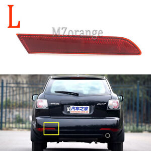 Pair Rear Left For Mazda CX-7 Rear Bumper Lamp Reflectors Red Cover Light 10-12