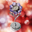 Crystocraft-Lilac-Flower-Crystal-Clock-Ornament-Swarovski-Elements-Gift-Boxed thumbnail 8