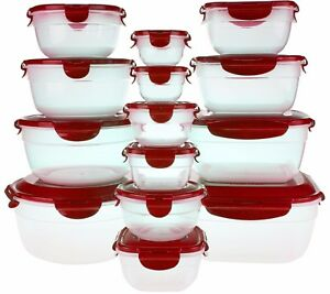 Image is loading Lock-&-N-Lock-Food-Storage-Containers-14-  sc 1 st  eBay & Lock u0026 N Lock Food Storage Containers 14 pc w/ lids 2 w Handles Zen ...
