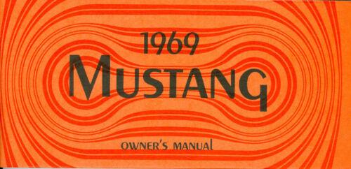 1969 69 MUSTANG//MACH 1  OWNERS MANUAL