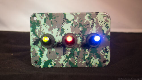 Forest w// 3 LED toggle switches of your choice 3 HOLE Digital Camo 3D WRAP