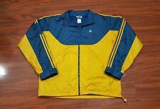 Vintage 90's ADIDAS Windbreaker Jacket Track Coat men's L hip hop Colorblock VTG