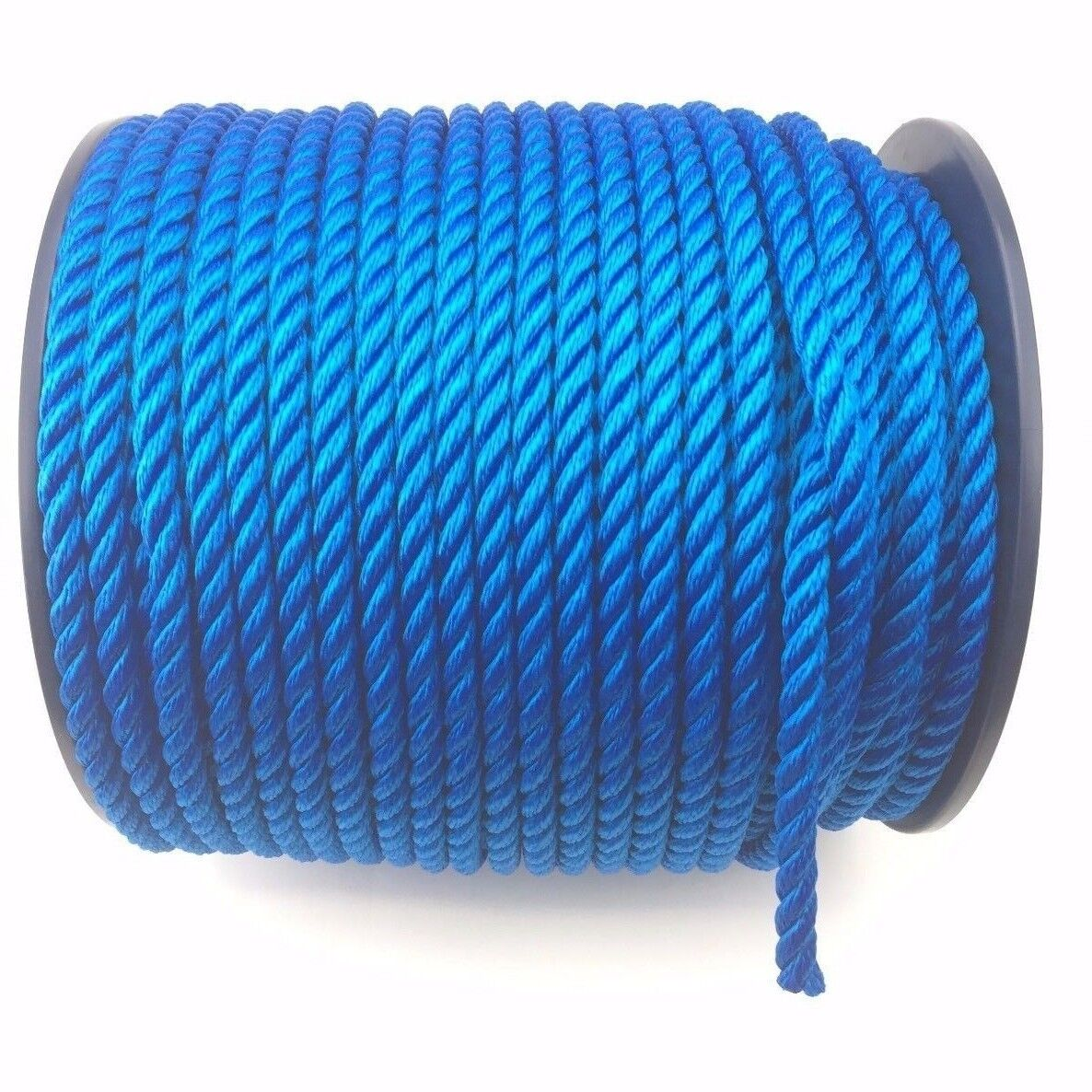 8mm Royal bluee 3 Strand Floating Multifilament Softline Rope x 40 Metres