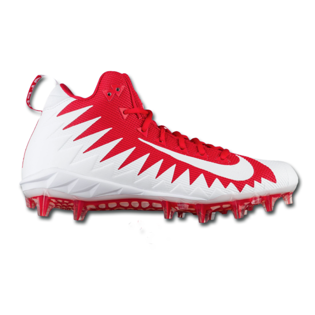 free shipping 0869f 5682a Nike Alpha Menace Pro Mid Football Cleat whitered Size 10
