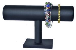 Schmuckhalter-Schmuckstander-Uhrenhalter-Aufsteller-Kunstleder-schwarz-Uhren-neu