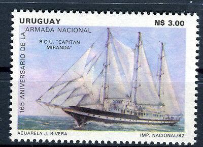 1656 Kriegsflotte Schiff Br563 Reich An Poetischer Und Bildlicher Pracht Uruguay Gutherzig Briefmarke Uruguay 1982 ** Postfrisch Nr