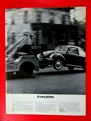 "1973 Volkswagen BUG-Gas Drinking Problem-Original Print Ad 8.5 x 11/"""