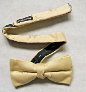 Bow Tie Mens Bowtie Adjustable Dickie PALE GOLD CREAM