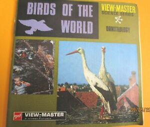 VINTAGE 1960s VIEW-MASTER  REELS  BIRDS OF THE WORLD