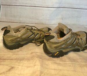Merrell-Moab-2-Vent-Mid-J06045W-Vibram-Hiking-Shoes-Men-039-s-Size-9-5-Walnut