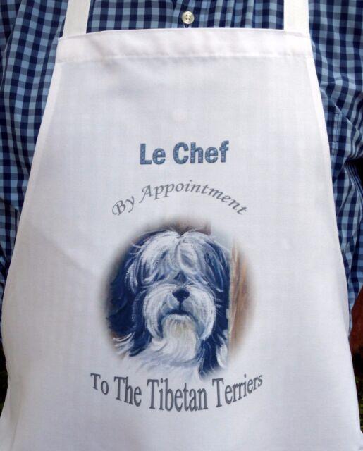 TIBETAN TERRIER DOG NEW DESIGN APRON KITCHEN ACCESSORY SANDRA COEN ARTIST PRINT