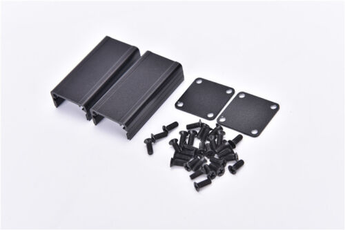 Extruded Aluminum Box Black Enclosure Electronic Project PCB DIY 50*25*25mm、2 UQ