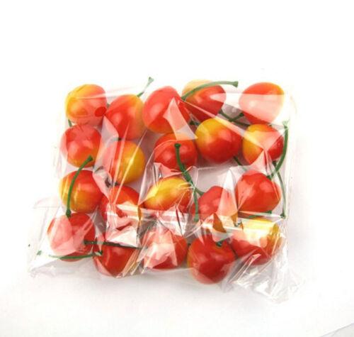 20pcs//Bag Artifical Fruit Decor Mini Fake Plastic Puzzle Toy Vegetable Home