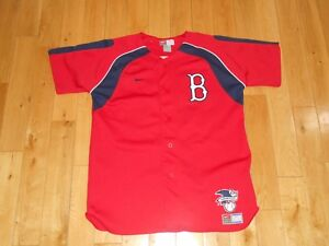 wholesale dealer f25ce c0b5f Details about Nike DAVID ORTIZ Red BOSTON RED SOX 34 Youth MLB Batting  Practice Team JERSEY XL