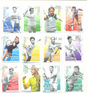 Australia-Tennis Legends set(12) 2016 fine used cto-Sport-Tennis