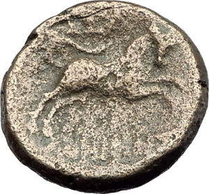 THESSALONICA-in-Macedonia-1stCenBC-Authentic-Ancient-Greek-Coin-ZEUS-BULL-i63803