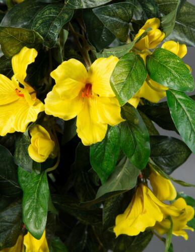 Hibiskusranke 70cm gelb ZF Kunstpflanzen Kunstblumen künstlicher Hibiskus