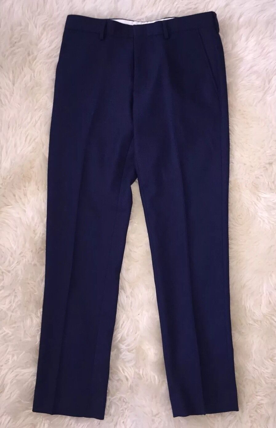 Nwt JCrew  Bowery Slim Pants In Wool W32 L30 Deep Royal bluee 47475 NEW