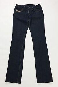 Diesel-Lowky-W29-L34-42-43-jeans-donna-blu-gamba-dritta-donna-usato-slim-T1327