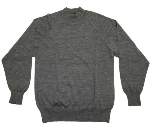 Vintage Gray L/S Sweater by Virany 50% Wool 50% Ac