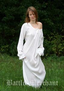 Battle Merchant Unterkleid Nachtgewand Natur Baumwolle Mittelalterkleid Larp Exzellente QualitäT