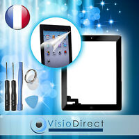 Vitre Ecran Tactile Pour Ipad 2 Noir, Bouton Et Adhésif + Film Protecteur +outil