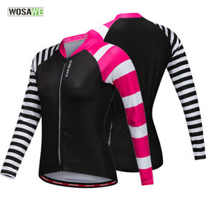 Ladies-Cycling-Jersey-Long-Sleeve-Road-Team-Bike-Hiking-Quick-Dry-Shirt-Tops