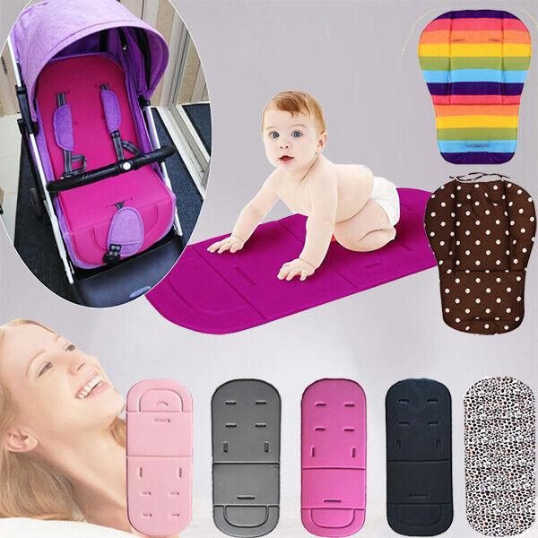 Lovyno Baby Stroller Cushion Seat Liner,Pram Pushchair Car Pad Cushion Mat Black