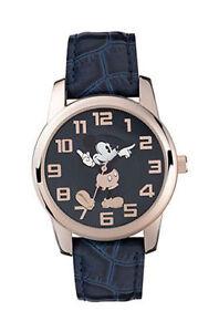 d5d0e7f8b1 Nouveau Disney Mickey Mouse Mk1456 Bleu Montre avec Bracelet Cuir   eBay