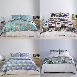 Image Is Loading Reversible 3pc Beautiful Luxury Bedding Bed Spread Pillow