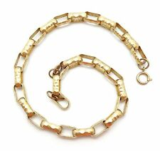"CATHERINE POPESCO Large Oval Hammered Link Gold Plated Necklace 17"" - 18"""