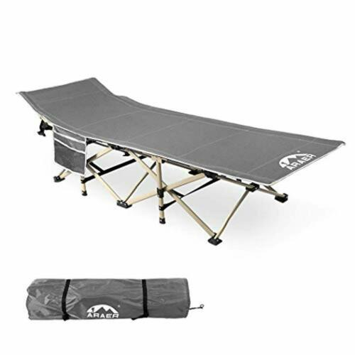 Portable Foldable Outdoor Bed ARAER Camping Cot BLACK Max Load 450LBS