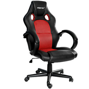 Image Is Loading SALE Merax Racing Gaming Chair High Back PU