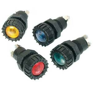 Green-Dash-Warning-Light-With-Bulb-17mm-Diameter-Screw-Fitting