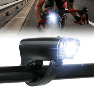 For Bicycle Head Light Front Handlebar Lamp Flashlight 300LM Waterproof LED