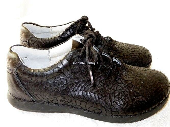 Alegria Essence Floral Notes Black Leather Shoes Size 36 EUR : US 6 ,NWOB