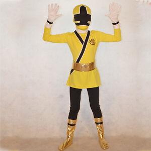 Boys Power Rangers Costume Kids Samurai Cosplay Child Halloween ...