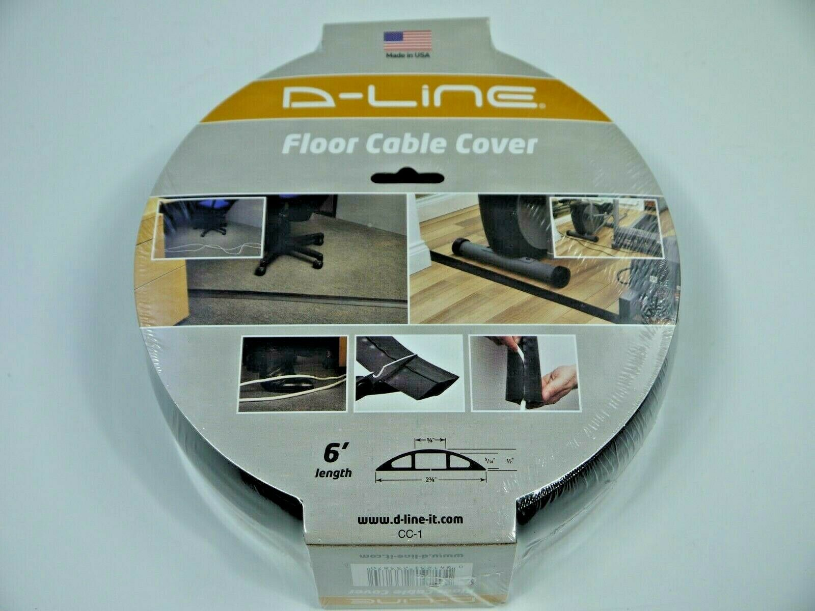 D-Line Floor Cable Cover 6' / 72