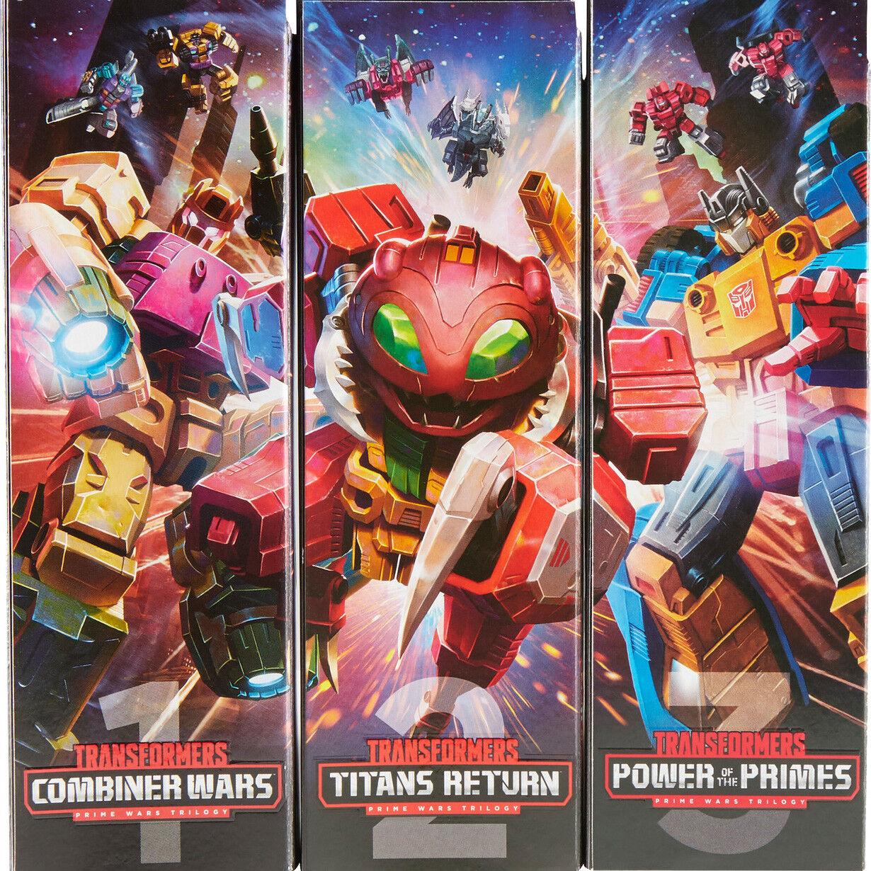 Transformers Collector's Club Primer Guerra Trilogía Completa 3-Pack Triple Set Nuevo