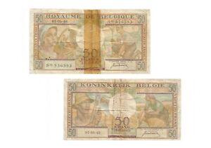 éNergique Belgique : Billet 50 Francs 01-06-1948 Belgie