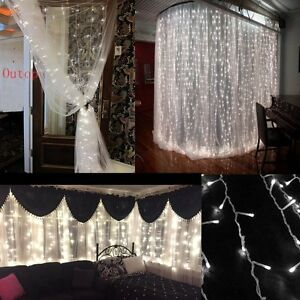 garden 304 led icicle lights string fairy light window. Black Bedroom Furniture Sets. Home Design Ideas