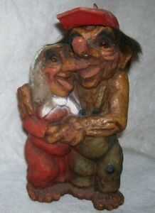 Norwegian Trolls Handmade Nyform Loving Couple 10 Ebay